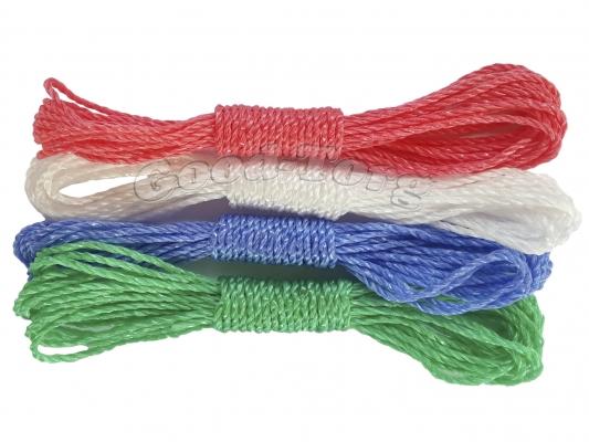 Веревка бельевая цветная