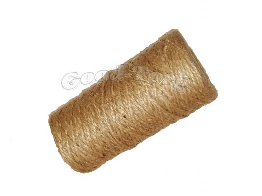 Тепличная нить лен 200 грамм - коричневый цвет.