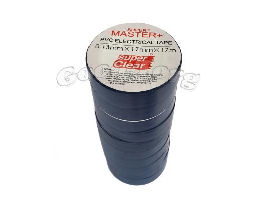 Изолента ПВХ Master+ синий 17м. (в пачке 10шт. продажа пачкой)