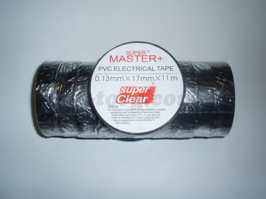 Изолента ПВХ Master+ черный 11м. (в пачке 10шт. продажа пачкой)