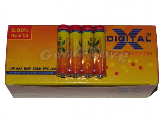 Батарейка Digital AAA R03 МИКРОПАЛЕЦ 60 шт.