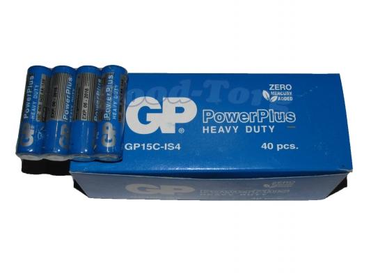 Батарейка GP PowerPlus солевая, AA R6, палец, вид №2, 40 шт.