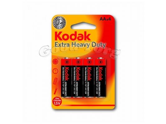 Батарейка Kodak, AA R6, палец, на блистере, 4 шт.