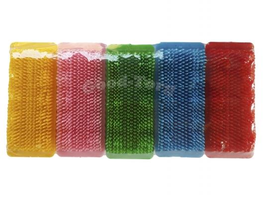 Пемза для ногтей цветная большая Польша  (10 шт. в упаковке) 9×3.5 см.