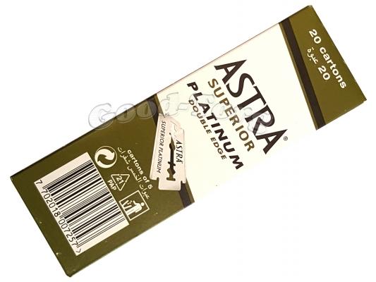 Лезвия ASTRA Platinum-оригинал 20 пач × 5шт.(Россия)