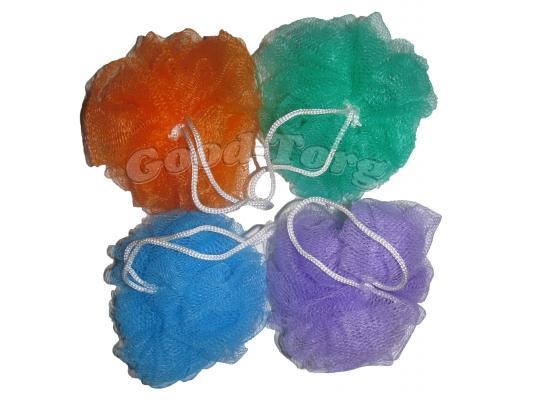 Мочалки цветные бантик большая (1 пач=6шт.)