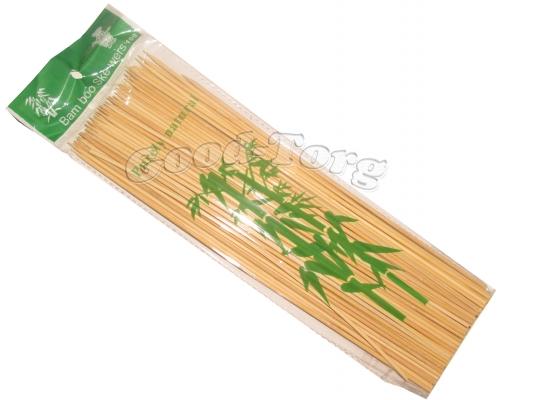 Шпажки для шашлыка 20 см бамбук 100 шт в пачке