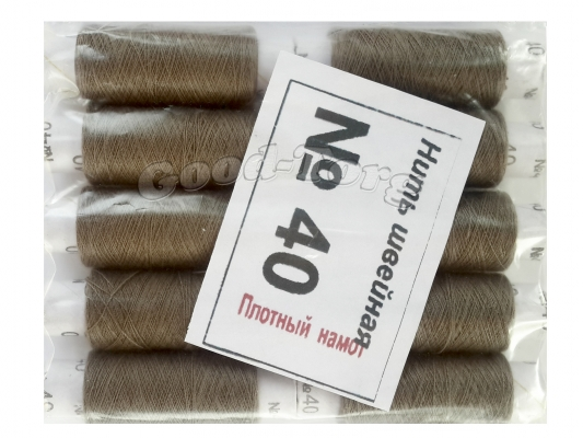 Нить швейная, № 40, 10 шт/уп, сине-зеленый арт. 22