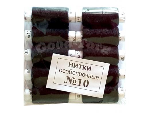 Нить №10 х/б, Никополь (10 черных)