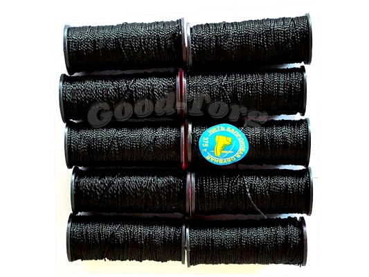 Нить обувная №375 черный (10 шт.) ( продажа упаковкой )