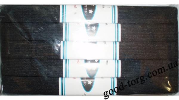 Резинка узкая черная Тасьма 5 метров шир.:2см (5 резинок )( продажа упаковкой )