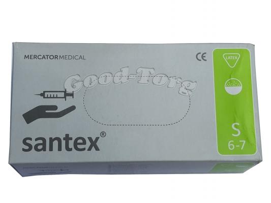 Медицинские перчатки Santex S 100 шт. Белый цвет (продажа упаковкой)