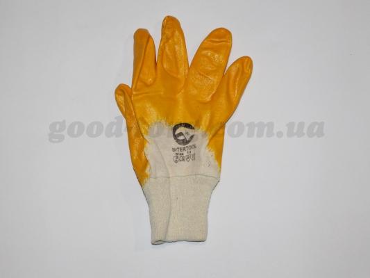 Перчатки 10-ка, толстые оранжевые 12 пар. (продажа только упаковка )