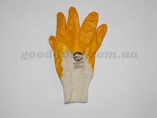 Перчатки 9-ка, толстые оранжевые 12 пар. (продажа только упаковка )