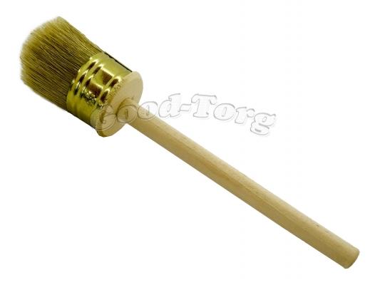 Кисть круглая, №45, 21*4,5 см, деревянная ручка 1 пач. = 5 шт.