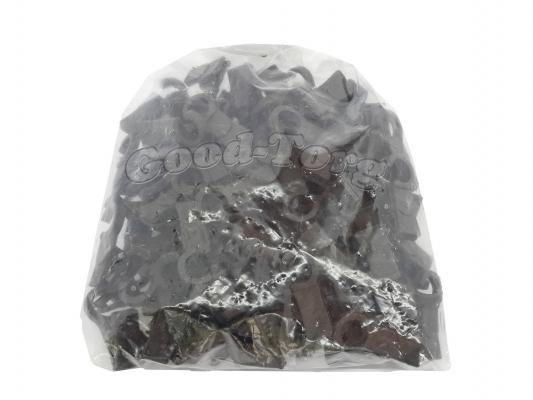 Зажим (ГАК) для шторы, 3,5*1 см., пластиковый крючок 100 шт. Темнокоричневый