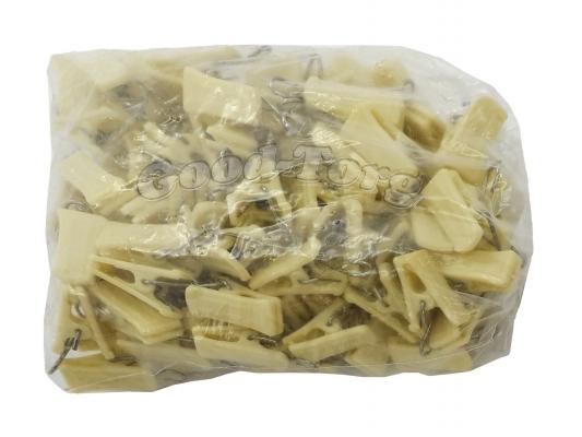 Прищепки для шторы, 3,5*1 см., крем, металлический крючок 100 шт.
