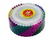 Портновские булавки с шариком, ассорти, 12 пластин в блоке