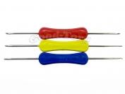 Крючок для вязания двухсторонний (пластиковая ручка)