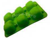 Силиконовая форма для выпечки Яблоки 6 Гл. 4.5 см. Дл 26 см. Шир. 17.5 см. диам. ячеек 7 см.
