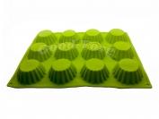 Силиконовая форма для выпечки 12 кексов Гл. 4 см. Дл 34.5 см. Шир. 26 см. диам. ячеек 7 см.