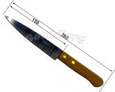 Нож  деревянная ручка 6-ка  265 мм.