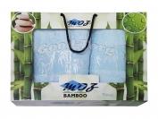 Набор полотенце бамбук Турция 2 шт. цвет голубой лицо 35*70 см. + баня 70*140 см.