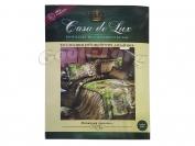 Постельное белье Casa de Lux (зеленая упаковка)  N2, полуторный (Пододеяльник 1 шт. 220х145 см. Простыня 1 шт. 220х145 см. Наволочка 2 шт. 70х70 см.)