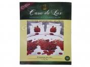 Постельное белье Casa de Lux (зеленая упаковка) N18, евро (Пододеяльник 1 шт. 220х200 см. Простыня 1 шт. 220х200 см. Наволочка 2 шт. 70х70 см.)