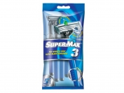 Одноразовый станок Super Max 3   1 уп. = 24 шт. (Индия)