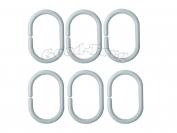 Кольцо для шторы в ванную с разрезом белый цвет (1 уп. = 100 шт.)