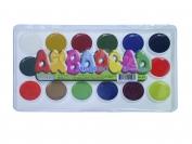 Акварель медовая 18 цветов в пластиковой коробке