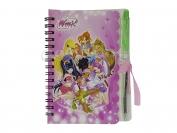 Блокнот на пружине с ручкой картины для девочек (картинки в ассортименте)