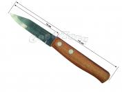 Нож на планшете, маленькая 170 мм  деревянная ручка, 12 шт. Фабричный Китай(продажа листом)