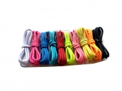 Шнурки для обуви цвет коричневый плоские 100 см. 1 уп. = 72 пар.