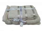 Набор полотенца 2 шт. лицо + 2 шт. баня (Турция) цвет - белый