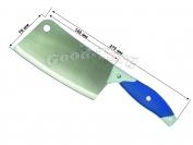 Топорик на планшете, синяя резиновая ручка, 275 мм., Китай.