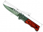 Нож выкидной №1, 160 мм., маленький, деревянная или костяная ручка (в пачке 12 шт.)