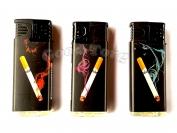 Зажигалка турбо рисунок сигарета  арт 819-3