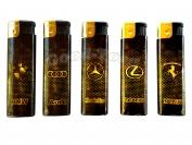 Зажигалка турбо марка автомобилей - чернозолотистый арт.328-20