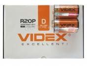 Батарейка VIDEX, D R20, большая, 24 шт.