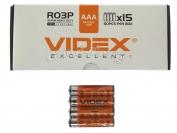 Батарейка VIDEX, AAA R03, микропалец, 60 шт.