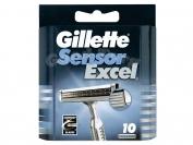 Картриджи Gillette Sensor Excel, оригинал, 1уп.=10шт. (Польша)