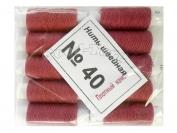 Нить швейная, № 40, 10 шт/уп, темно-розовый арт. 9