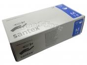 Медицинские перчатки Santex М 100 шт. Белый цвет (продажа упаковкой)