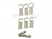 Крючки для шторы, 3,5*1 см., пластиковый крючок, белый 100 шт.